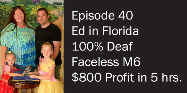 """Featured image for """"100% Deaf Member Ed in Tampa Makes $800 profit in five hours with his M6 postcards."""""""